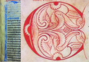 Bruges, Public Library Ms 111, F and C both from f. 1v.