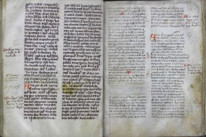 Chetham's MS. 6712, ff. 258v-259r: Annal entries for 1296-1299